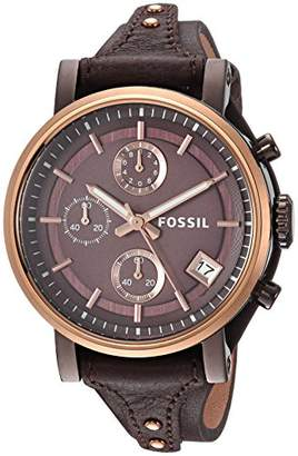 Fossil Women's 'Original Boyfriend' Quartz Stainless Steel and Leather Casual Watch
