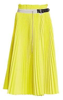 Sacai Women's Pleated Mesh Skirt