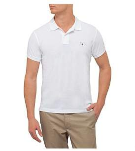 Gant Solid Fitted Pique Ss Rugger