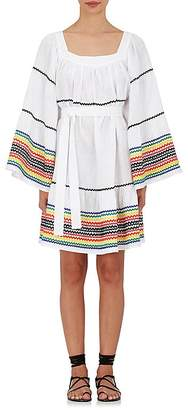 Lisa Marie Fernandez Women's Linen Cover-Up Peasant Dress $1,295 thestylecure.com