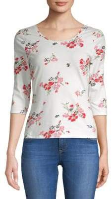 Rebecca Taylor Marguerite Floral-Print Jersey Top