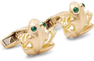 Deakin & Francis 18-Karat Gold Emerald Cufflinks
