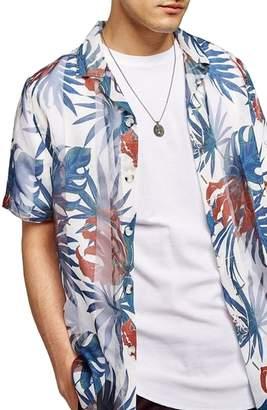 Topman Palm Print Shirt