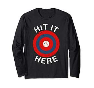 Baseball Home Run Target Bleacher Bullseye Funny Long Sleeve T-Shirt
