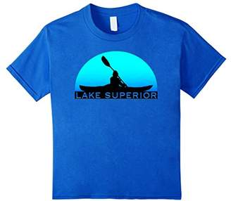 LAKE SUPERIOR Kayak Souvenir Tshirt I Love Kayaking