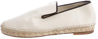 CelineCéline Round-Toe Leather Espadrilles