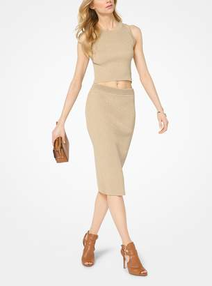MICHAEL Michael Kors Ribbed Stretch-Viscose Pencil Skirt