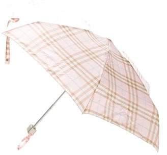 Burberry Nylon Check Umbrella