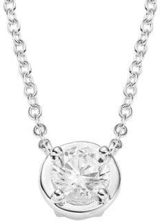 Lafonn Sterling Silver Round Pendant Necklace