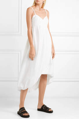 3.1 Phillip Lim Shirred Cotton-poplin Midi Dress - White