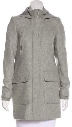 Theory Hooded Short Coat