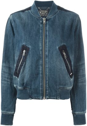 Diesel denim bomber jacket $210.73 thestylecure.com