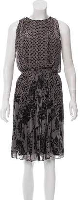 Diane von Furstenberg Pleated Printed Dress