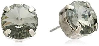 "Sorrelli Volcano"" Round Crystal Stud Earrings Essentials"