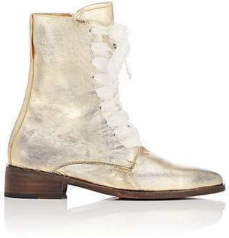Esquivel Women's London Distressed Leather Lace-Up Boots