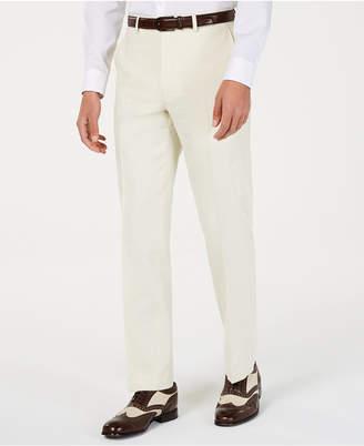 Sean John Men Classic-Fit Off White Solid Suit Pants
