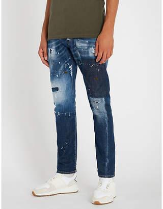 DSQUARED2 Distressed slim-fit twist denim jeans