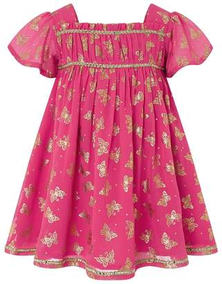 Monsoon Red Baby 'Ella' Butterfly Dress