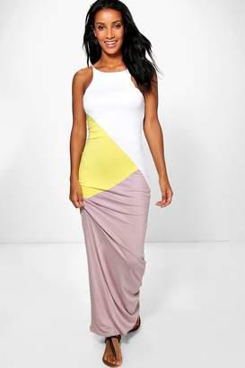 boohoo Colour Block Maxi Dress