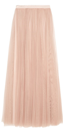 Needle & Thread - Tulle Maxi Skirt - Blush $240 thestylecure.com