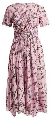 Preen Line Keziah Floral Print Handkerchief Hem Midi Dress - Womens - Pink Multi