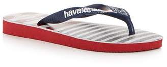 Havaianas Unisex USA Stripe Flip-Flops - Little Kid, Big Kid