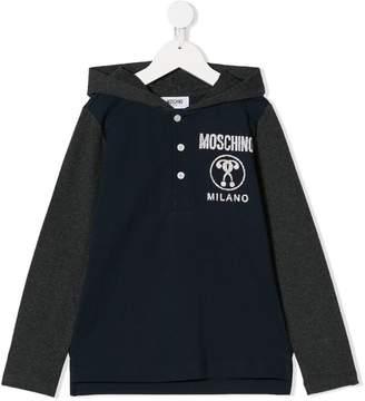 Moschino Kids hooded long sleeve T-shirt