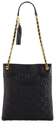 374f3e8f80d3 ... Tory Burch Fleming Diamond-Quilted Swing-Pack Tote Bag - Brass Hardware
