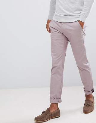 Ted Baker smart slim chinos in peached cotton