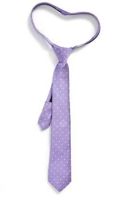 Nordstrom Dainty Dot Silk Zip Tie