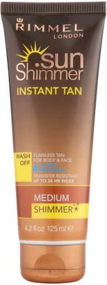 Rimmel Sunshimmer Water Resistant Wash Off Instant Tan - Shimmer (125ml) - Medium Shimmer