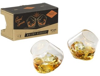 Gentlemen's Hardware Rocking Whiskey Glasses, Set of 2