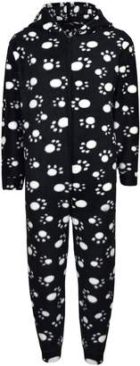 a2z4kids Unisex Kids Girls Boys Paw Print Hooded Stylish Fashion Onesie New Age 2-6 Years