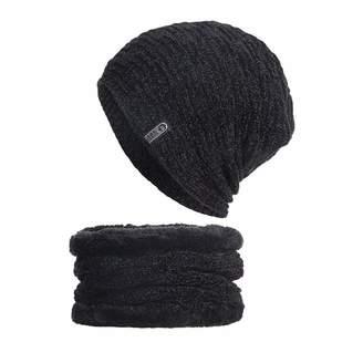 f51a2734760e7b Vincent&July-Cap 2pcs Winter Beanie Hat Scarf Set for Men Women Fur Lined Thick  Knit
