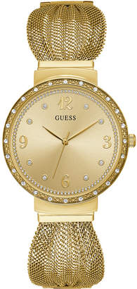GUESS Women's Gold-Tone Stainless Steel Mesh Bracelet Watch 36mm