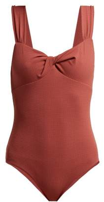 Marysia Swim Leah Knotted Swimsuit - Womens - Dark Pink