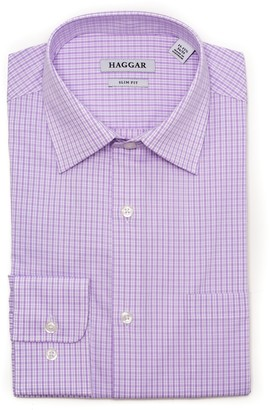 Haggar Men's Premium Comfort Slim-Fit Stretch Dress Shirt