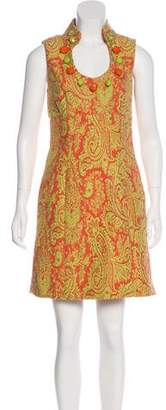 Milly Brocade Mini Dress