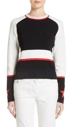 Women's Belstaff Sinead Intarsia Star Sweater $595 thestylecure.com