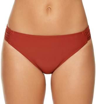 Couture Women's Aqua Shirred-Side Hipster Bikini Bottoms
