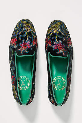 Penelope Chilvers Dandy Embroidered Loafers