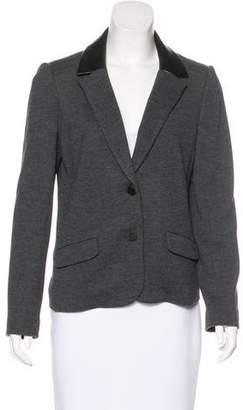 Tory Burch Long Sleeve Wool-Blend Blazer