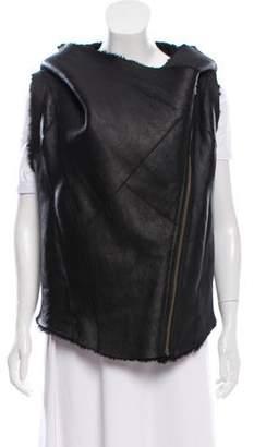 Helmut Lang Leather Fur Vest