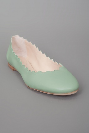 Chloé Scalloped Flat Mint