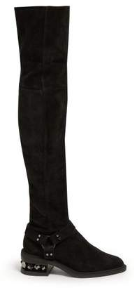 Nicholas Kirkwood Suzi Over The Knee Suede Boots - Womens - Black