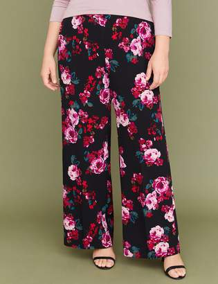 Lane Bryant Wide Leg Pant - Pull-On Crepe