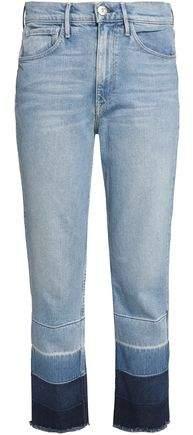 Dégradé Frayed Straight-Leg Jeans