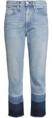 3x1 Dégradé Frayed Straight-Leg Jeans