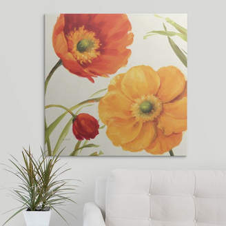 Great Big Canvas 'Poppies Melody II' by Lisa Audit Painting Print
