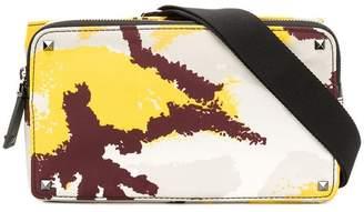 Valentino camouflage document belt bag